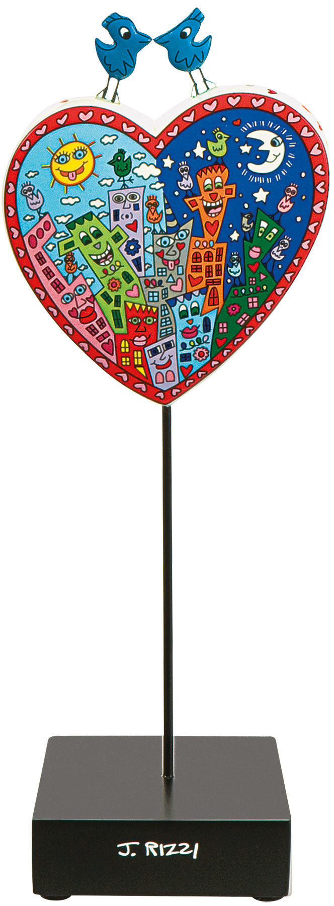 "James Rizzi: Porzellanherz ""Love in the heart of the city"" - Bild 1"