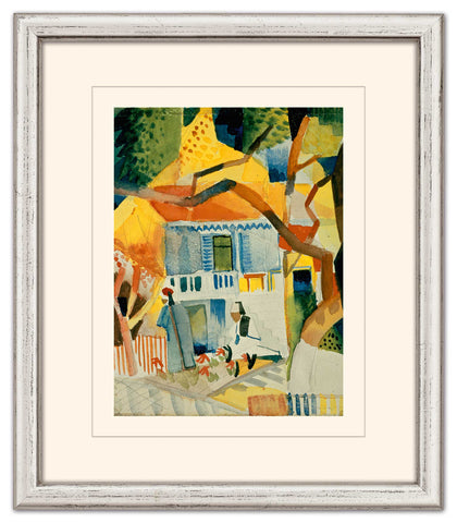 "August Macke: Bild ""Innenhof des Landhauses in St. Germain"" - Bild 1"