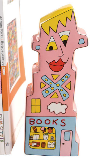 "James Rizzi: Buchstütze ""Books to my Right"" - Bild 1"