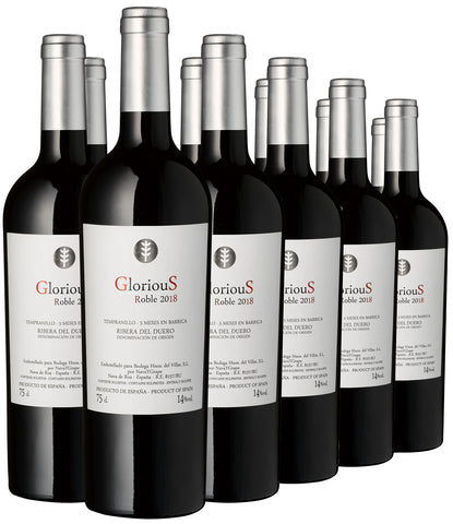 "2018 Tempranillo ""Glorious"" DO, Bodegar Villar, 12er Paket - Bild 1"
