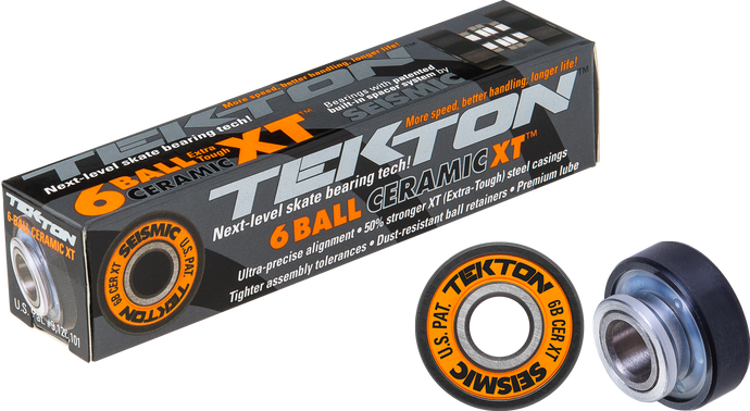 Seismic Skate - Tekton 6-Ball Ceramic XT Built-In Bearings