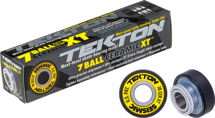 Seismic Skate - Tekton 7-Ball Ceramic XT Built-In Bearings