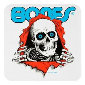 "Bones Ripper Sticker - Blue - 5"" x 5"""