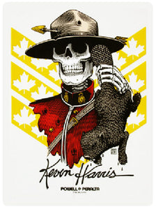 Powell Peralta - Kevin Harris Skull Mountie Sticker