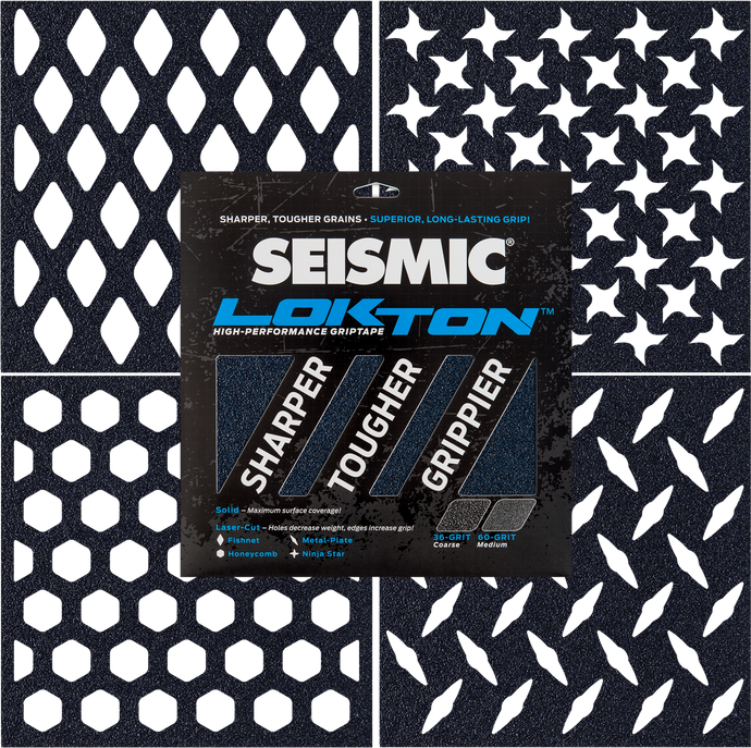 Seismic Skate - Lokton 60 Grit Medium Grip Tape - 3 Pack