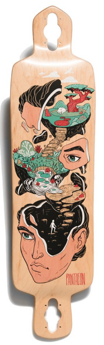 Pantheon Longboards - Quest Path Fiberglass 7-Ply Deck - 36.5