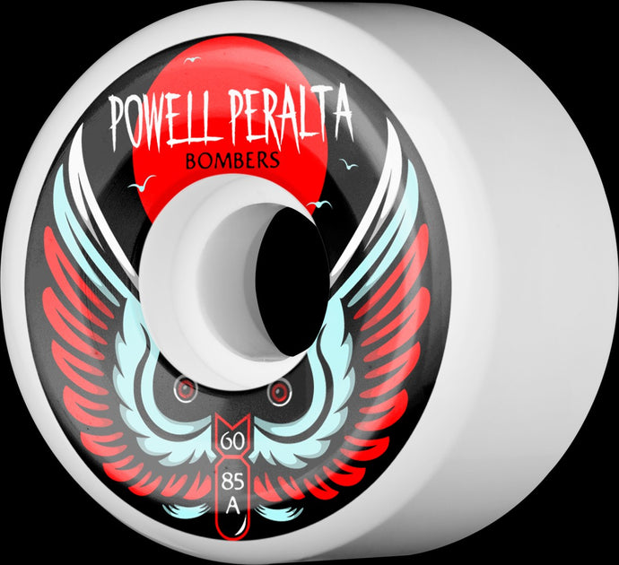 Powell Peralta - Bombers III Skateboard Wheels - 60mm/85a - White