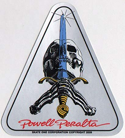Powell Peralta - Skull and Sword Sticker