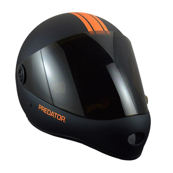 Predator - DH6 Full Face Helmet - Matte Black/Orange Stripe