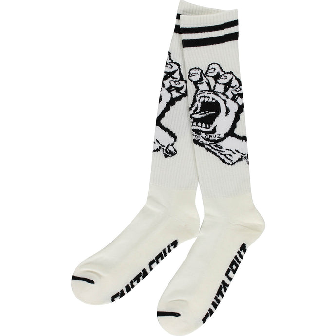 santa-cruz-screaming-hand-tall-socks-white Switchback Longboards