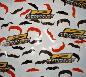 liams-custom-moustache-stickers Switchback Longboards