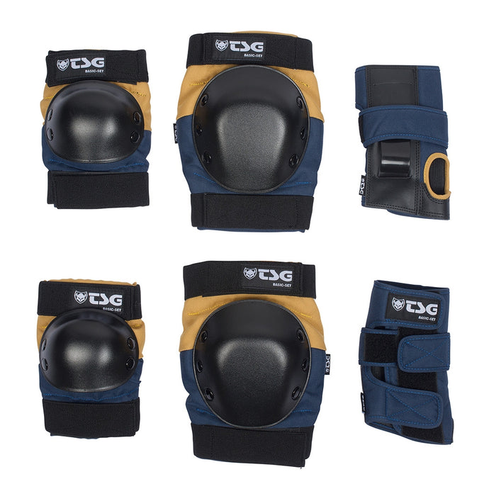 tsg-basic-pad-set-knees-elbows-wrists Switchback Longboards