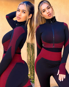 Red/black anti-cellulite body contouring 2 piece - Shop Glam Fairy