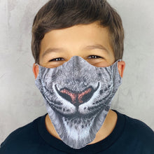 Load image into Gallery viewer, White Snow Leopard Lightweight Animal Mask - EBALIDA