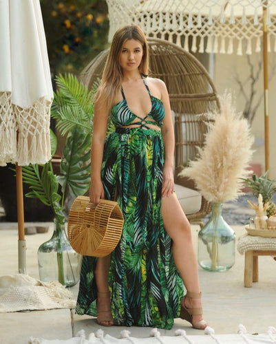 Bora Bora Tropical Maxi Dress - EBALIDA