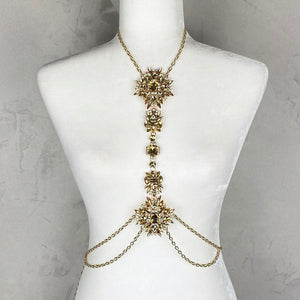 Gold & Yellow Body Chain Jewelry - EBALIDA