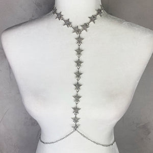 Silver Star Fashion Body Chain Jewelry - EBALIDA