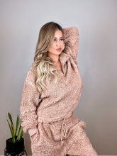 Load image into Gallery viewer, Soft Camel Teddy Bear sherpa 2 piece lounge set - Shop Glam Fairy