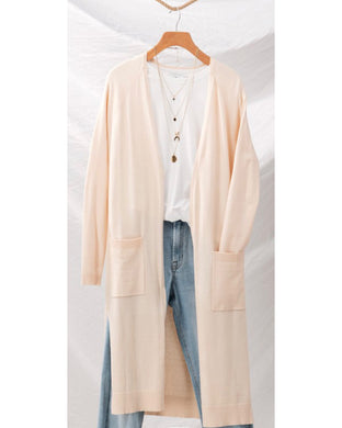 Long Cardigan with pockets Butter - Shop Glam Fairy