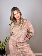 Load image into Gallery viewer, Soft Camel Teddy Bear sherpa 2 piece lounge set - EBALIDA