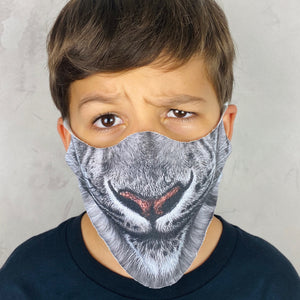 White Snow Leopard Lightweight Animal Mask - Shop Glam Fairy