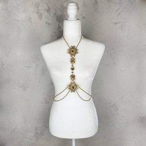 Gold & Yellow Body Chain Jewelry - Shop Glam Fairy
