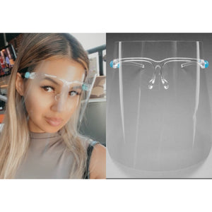Clear Face Shield W/ no lense glasses - Shop Glam Fairy