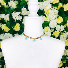 Load image into Gallery viewer, Light blue Butterfly Gold Chain Necklace - EBALIDA