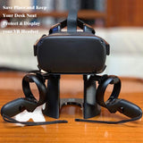 KINVOCA VR Stand | Virtual Reality Headset and Controllers Display Holder | Compatible with Oculus Rift/Oculus Rift S/Oculus Quest Headset and Touch Controller Accessories