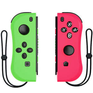 Kinvoca Joy Con Controller Replacement for Nintendo Switch with Wrist Straps, Pink & Green