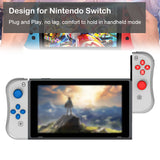 Kinvoca Joy Con Controller Replacement for Nintendo Switch with Wrist Straps, Gray