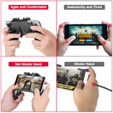 "KINVOCA Mobile Game Controller with L1R1 L2R2 Triggers | 6 Fingers Operation | for 4.7-6.5"" iPhone Android iOS Cellphones"