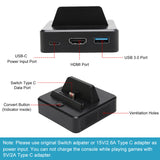 KINVOCA TNS-1828 Switch Dock | Compact Lightweight Design for Easily Carrying Around | Charging while Playing