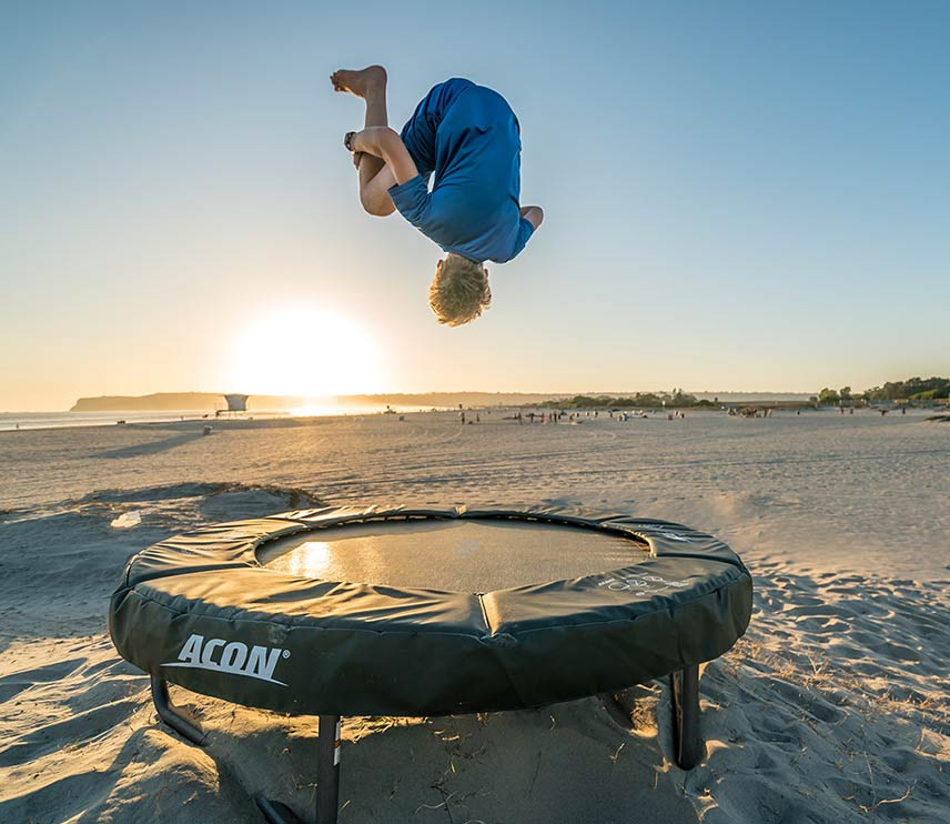 Acon trampoline on the beach