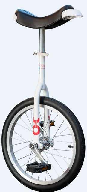 "Unicycle Only One 18"", white"