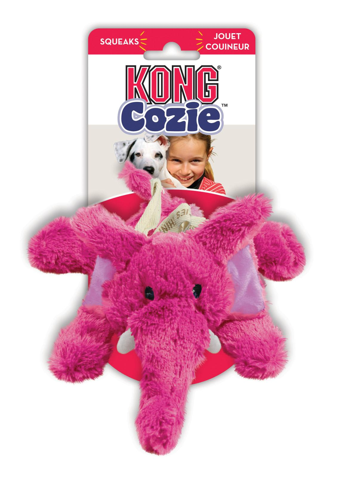 KONG Cozie Elmer Elephant - Medium | Positive Dog Products | Adelaide