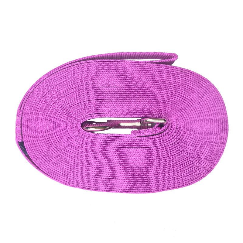 10m Long Lines with fluorescence thread 25mm width - Positive Dog Products