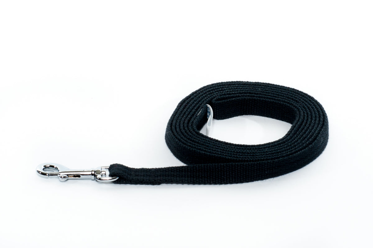 Lead - Cotton Webbing 12mm x 1.8m Various Colours - Positive Dog Products