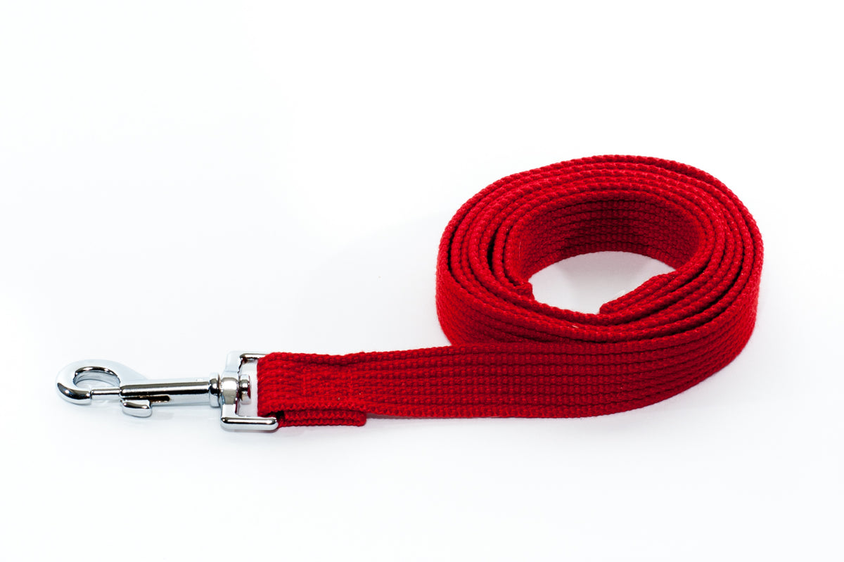 Lead - Cotton Webbing 25mm x 1.8m Various Colours - Positive Dog Products
