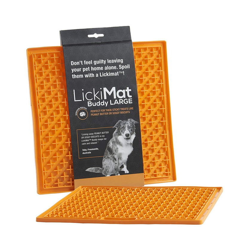 Lickimat Buddy Large Orange | Positive Dog Products | Adelaide