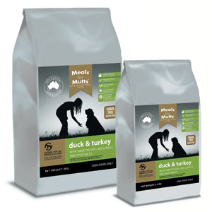 Meals for Mutts G/F Duck & Turkey 9kg (Adelaide Metro Delivery Only) | Positive Dog Products | Adelaide