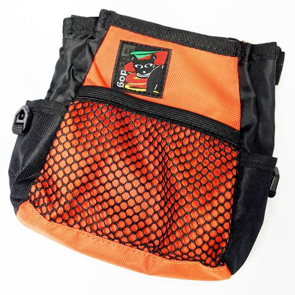 Black Dog Treat Bag Orange - Positive Dog Products