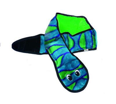 Invincible Snake 6 Squeaker Blue/Green - Outward Hound - Positive Dog Products