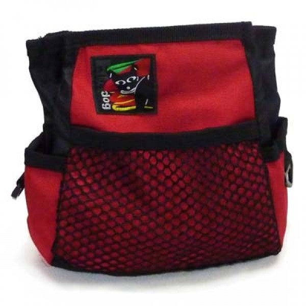 Black Dog Treat Bag - Red - Positive Dog Products