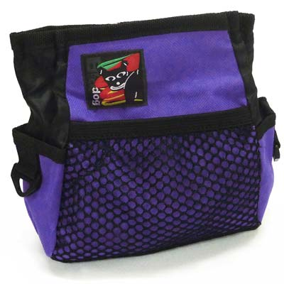 Black Dog Treat Bag - Purple - Positive Dog Products