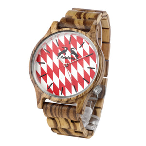 Hodalump Uhr - Red Edition - Holz - 3008-H