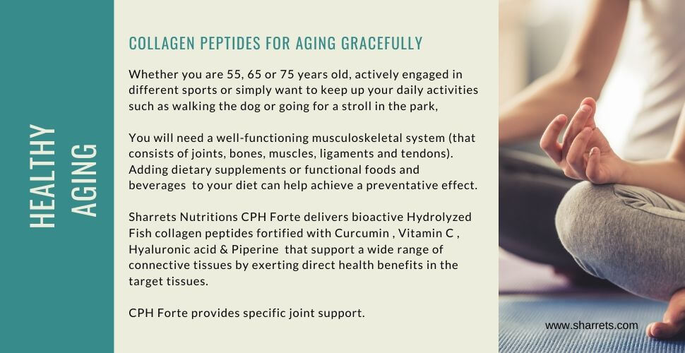 collagen peptides for healthy aging - Sharrets Nutritions