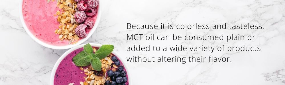 uses of mct oil - Sharrets Nutritions