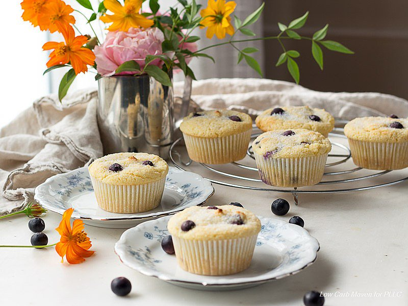 keto blue berry muffins - sharrets recipe