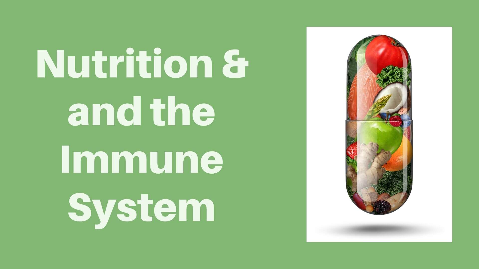 Nutrition and the immune system I Sharrets Nutritions